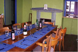 The dining room at James Farmhouse Accommodation